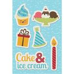 Cake & Ice Cream Canvas Sticker - Hello Cupcake
