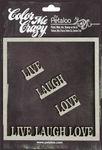 Live, Laugh, Love Frame Chipboard Pieces - Petaloo
