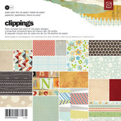Clippings 6 x 6 Paper Pad - Basic Grey