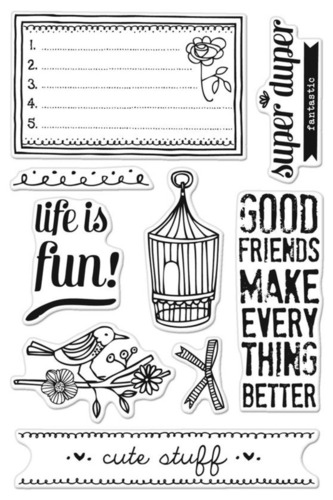 Life Is Fun Clear Stamps - Basic Grey