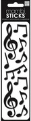 Musical Notes Mambi Puffy Stickers - Me And My BIG Ideas