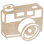 Camera Wood Flourish - Kaiser Craft