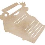 Typewriter Wood Flourish - Kaiser Craft