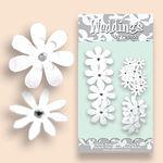 Glittered Daisies Wedding White - Petaloo