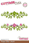 Flower Vine 4 x 6 Metal Die - CottageCutz