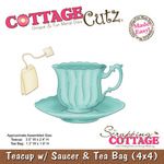 Teacup With Saucer And Tea Bag Metal Die - Cottage Cutz
