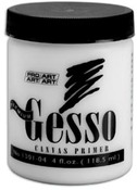 Gesso 4oz Canvas Primer - Pro Art - OLeary Paint