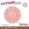 Tea Time Doily 4x4 Metal Die - Cottage Cutz