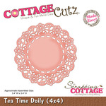 Tea Time Doily 4x4 Metal Die - Cottage Cutz