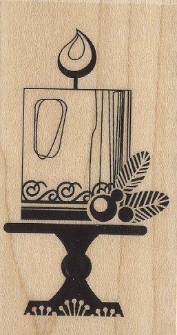 Holiday Candle Wood Stamp - Inkadinkado