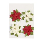 Poinsettias Dimensional Stickers - Jolees Boutique