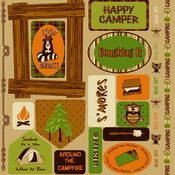 Happy Camper Double-Sided Die Cut Punch Out Sheet - Moxxie
