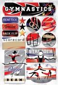 Gymnastics Cardstock Stickers - Karen Foster