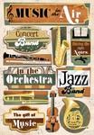 Music In The Air Cardstock Stickers - Karen Foster