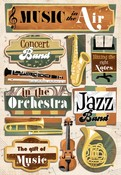 Music In The Air Cardstock Stickers - Karen Foster