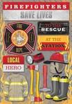 Firefighter Cardstock Stickers - Karen Foster