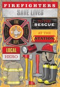 Firefighter Cardstock Stickers - Karen Foster