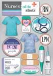 Nurses Cardstock Stickers - Karen Foster