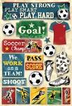 Soccer, Goal Cardstock Stickers - Karen Foster