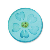 Circle With Flower Embosslits Die - Sizzix