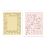 Roses & Frame Embossing Folder Set - Textured Impressions - Sizzix