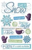 Let It Snow 3D Stickers - Paper House