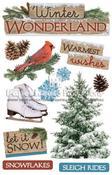 Winter Wonderland 3D Stickers - Paper House