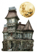 Haunted House 3D Stickers - Paper House
