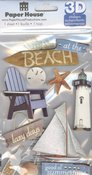 At The Beach 3D Stickers - Paper House
