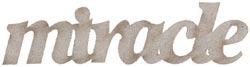 Miracle Die-cut Chipboard Word - Vintage Baby - FabScraps