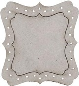 Dressing Room Frame Mirror Die-cut Chipboard - Burlesque - FabScraps