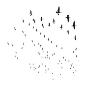 Mini Flying Geese 6 x 6 Stencil - The Crafters Workshop