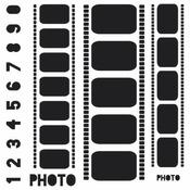 Filmstrips 6 x 6 Stencil - Crafters Workshop