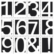 Life Numbers 6 x 6 Stencil - Crafters Workshop