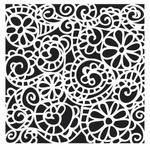 Swirly Garden 6 x 6 Stencil - Crafters Workshop
