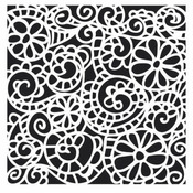 Swirly Garden 6 x 6 Stencil - Crafters Workshop