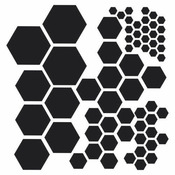 Hexagons 6 x 6 Stencil - Crafters Workshop