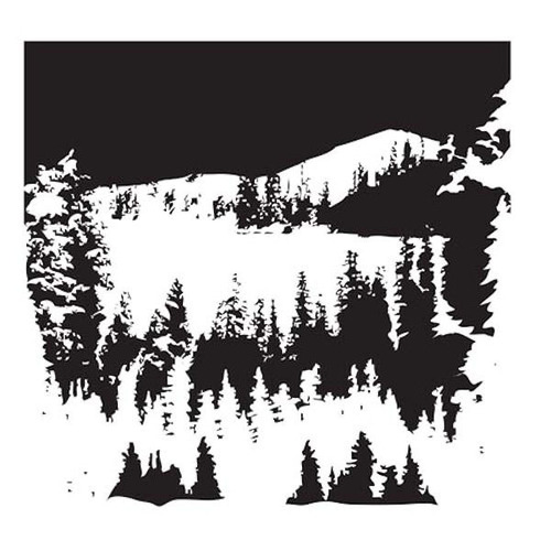 Snowy Treescape 12 x 12 Stencil - The Crafters Workshop