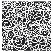 Swirly Garden 12 x 12 Stencil - The Crafters Workshop