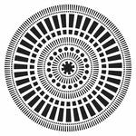 Mayan Calendar 12 x 12 Stencil - Crafters Workshop