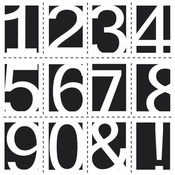 Life Numbers 12 x 12 Stencil - Crafters Workshop