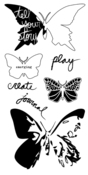 Butterflies Clear Stamps - Impression Obsessions