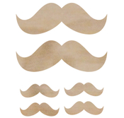 Moustaches - Wood Flourishes - KaiserCraft