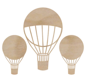 Hot Air Balloons Flourish - Wood Flourishes - KaiserCraft