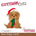Santa Puppy Metal Die - Cottage Cutz