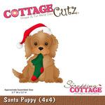 Santa Puppy Metal Die - Cottage Cutz