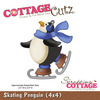 Skating Penguin Metal Die - Cottage Cutz
