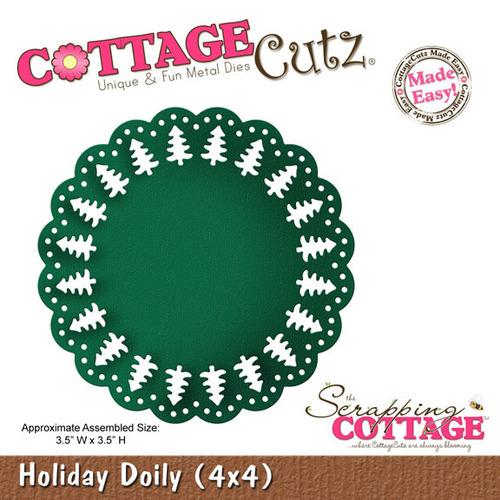 Holiday Doily 4x4 Metal Die - Cottage Cutz