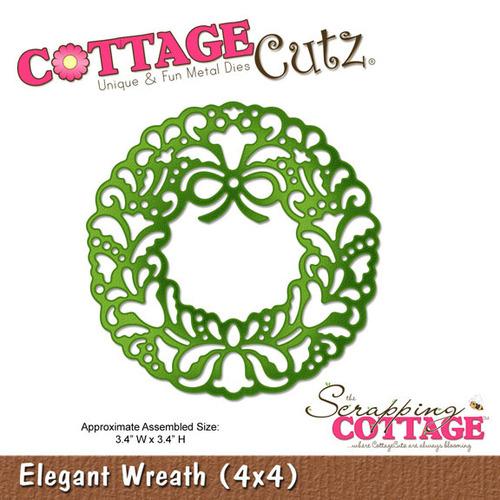 Elegant Wreath Metal Die - Cottage Cutz