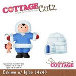 Eskimo With Igloo Metal Die - Cottage Cutz